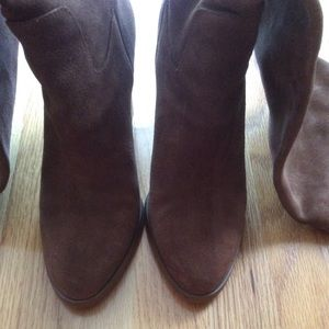 MK suede over knee boot